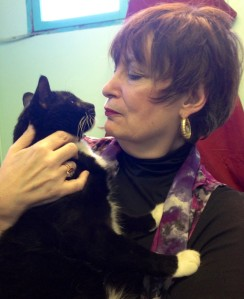 Author Toni LoTempio and Rocco, the Incredible Blogging Cat